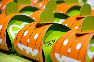 Pumpkin candy lantern