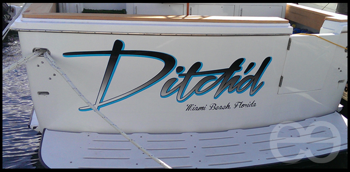 Ditch'd boat vinyl decal