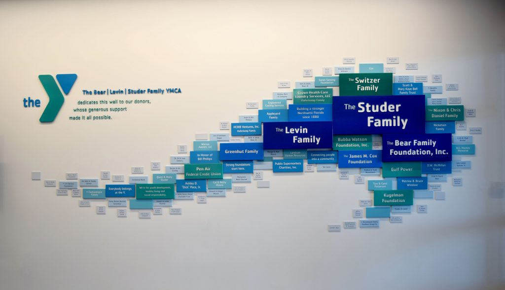 YMCA Donor Recognition Wall