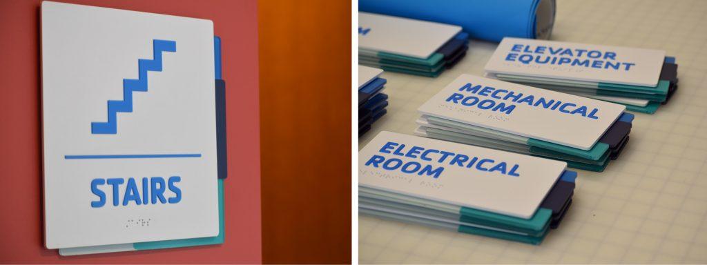 YMCA ADA compliant room ID signs