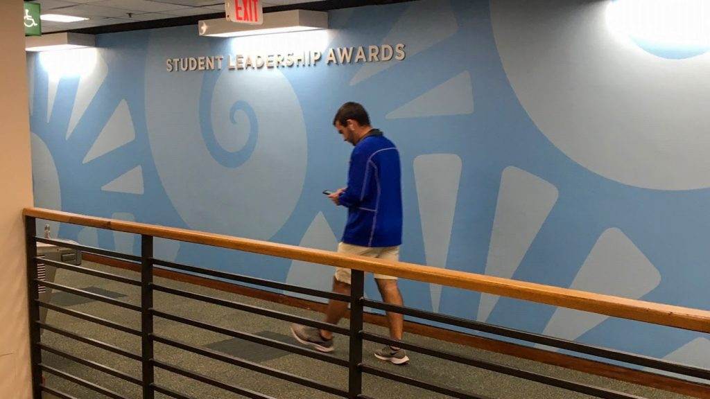 Branded environmental graphics at University of West Florida
