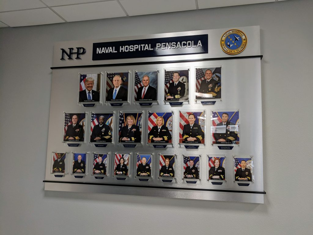 Corporate Photo Wall for Naval Hospital Pensacola