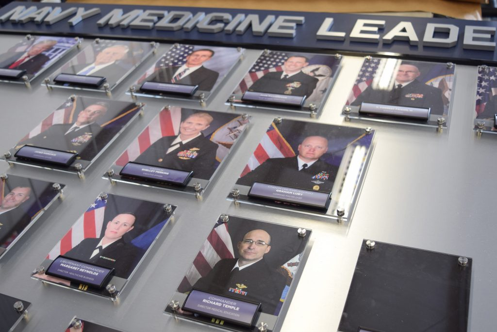 Military Leadership Photo Wall with Interchangeable Frames