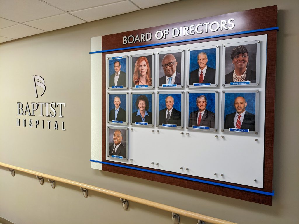 board of directors employee recognition wall