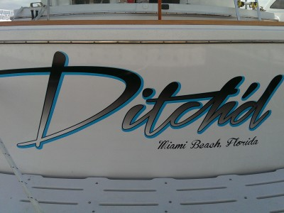 "623Vinyl Boat Decal – ""Ditch'd"""